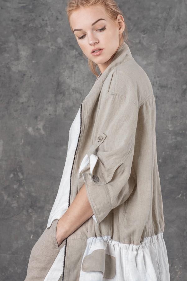 Lininis paltas MIMCA