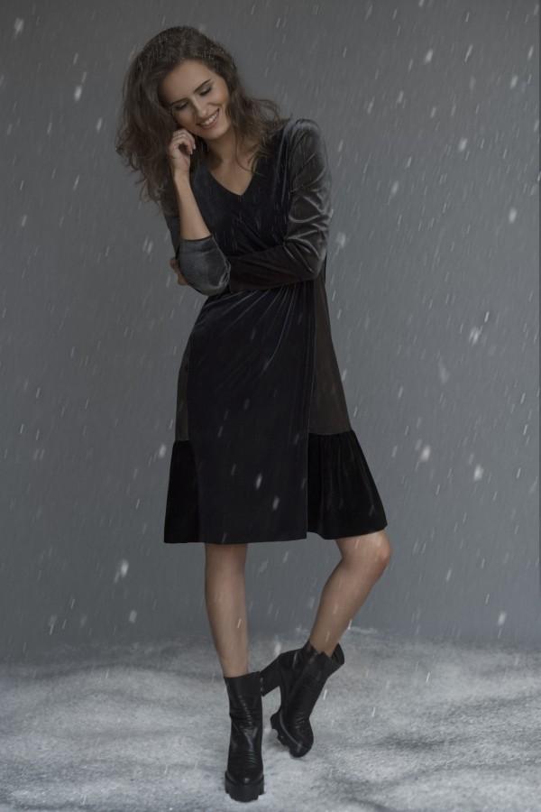 Aksominė suknelė ST8653